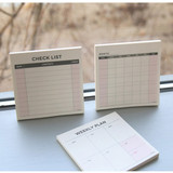 Desk scheduler memo pad 60 sheets
