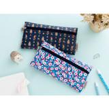 Pattern simple zipper pencil case