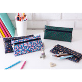 Pattern simple zipper pencil case