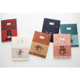Toffeenut lined and grid school notebook large ver.2