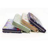 Willow story pattern zip around wallet with Tassle