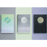 Planet wirebound lined notebook