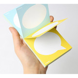 Text balloon message double sided memo pad