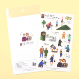 Seoul story translucent deco sticker
