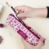 Pour vous melody square zipper pencil case