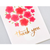 Detail of Thank you very message card