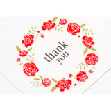 Detail of Thank you flower wreath message card