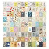 Composition of Vintage paper sticker set ver.2