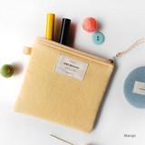 Mango - Wish blossom mind small zipper pouch