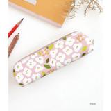 Pink - Breezy windy semo flower pattern pencil case