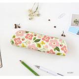 Ivory - Breezy windy semo flower pattern pencil case