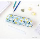Indi blue - Breezy windy semo flower pattern pencil case