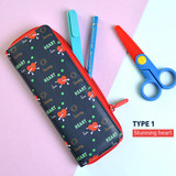 Summer heart - Du dum zip around pen case