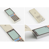 Detail of Electronic calculator memo pad