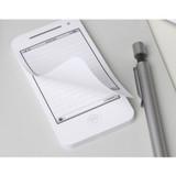 White smartphone memo note pad