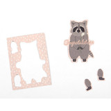 Racoon ornament message card