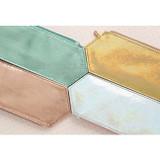 Aurora sexangle glitter pencil case