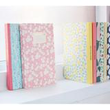 Promenade flower pattern plain notebook
