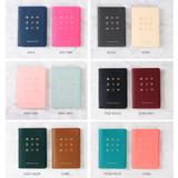Colors of Wannabe pictogram travel RFID blocking passport case