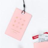 Baby pink - Wannabe pictogram travel luggage name tag