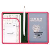 Classy plain RFID blocking mini passport case