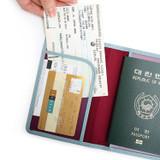 Half pocket - Classy plain RFID blocking mini passport case