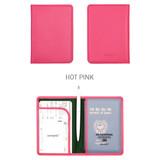 Hot pink - Classy plain RFID blocking mini passport case