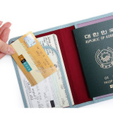 Card slot - Classy plain RFID blocking mini passport case