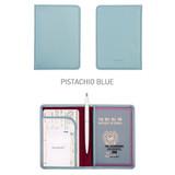Pistachio blue - Classy plain RFID blocking mini passport case