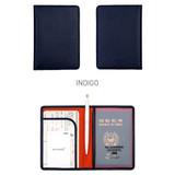 Indigo - Classy plain RFID blocking mini passport case