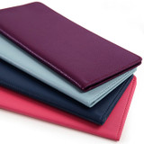 Classy plain RFID blocking long passport case