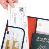 Half pocket - Classy plain RFID blocking long passport case