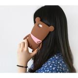 Brown - Monowave cute bear moya iPhone 6 jelly case