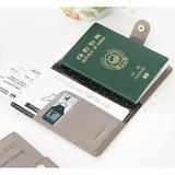 Snap button RFID blocking passport case
