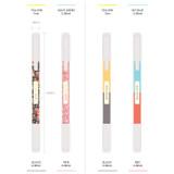 Bright color twin gel pen set