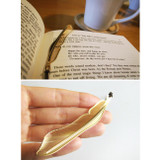 Feather gold plated bookmark