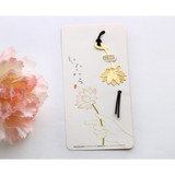 Lotus gold plated bookmark