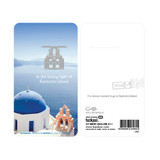 Santorini island steel bookmark