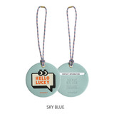 Sky blue - Merrygrin travel luggage name tag