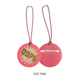 Hot pink - Merrygrin travel luggage name tag