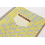 Leaf let - Story on geometric motif lined notebook
