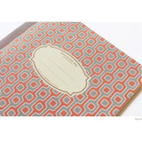 Square - Story on geometric motif lined notebook