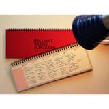 Red - Brilliant weekly desk scheduler memo note