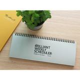 Gray - Brilliant weekly desk scheduler memo note