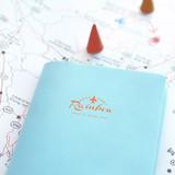 Detail of Travel rainbow passport cover case