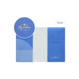 Blue - Travel rainbow passport cover case