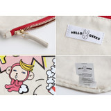 Detail of Hellogeeks pop art canvas pouch