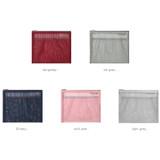 Colors of Travelus Medium slim mesh pouch ver.3