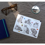 I love cat adhesive deco sticker 2 sheet ver.2