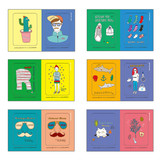 Composition of Big point paper sticker set 01